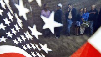 Imágenes de la jornada electoral en EEUU