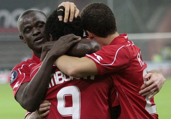 Las imágenes del Standard-Sevilla (1-0)