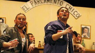 La chirigota de Luis María Rodríguez Rondán, Los políticos.   Foto: Jose Braza