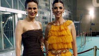 Aitana Sánchez Gijón y Maribel Verdú, juntas a su llegada.  Foto: Agencias