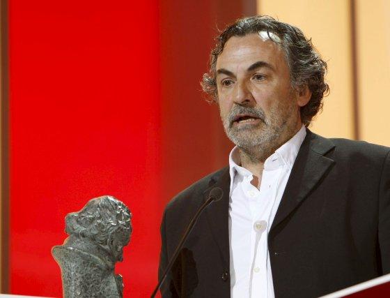 Antxon Gómez dedica unas palabras tras ganar el premio a Mejor dirección artística por 'Che, el argentino'  Foto: efe