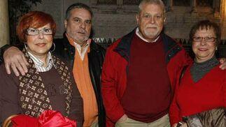 De derecha a izquierda: Inés Quintero, Manuel Vila, Miguel Aragón y Juani Quintero  Foto: Jose Braza