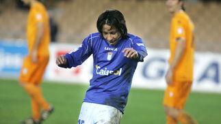 El delantero argentino bailó nada más marcar el tanto.  Foto: Pascual