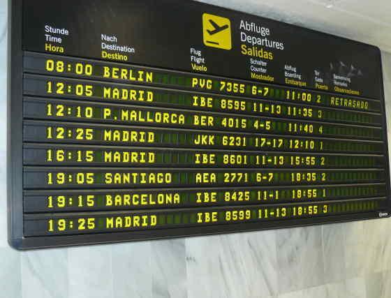 El vuelo se ha visto retrasado varias horas.  Foto: elalmeria.es