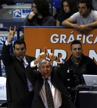 """Obradovic: """"El Unicaja es uno de los mejores equipos de Europa, siempre quiere controlar todo el campo y nos preparamos para eso""""  Foto: Sergio Camacho / Jorge Guerrero (EFE)"""