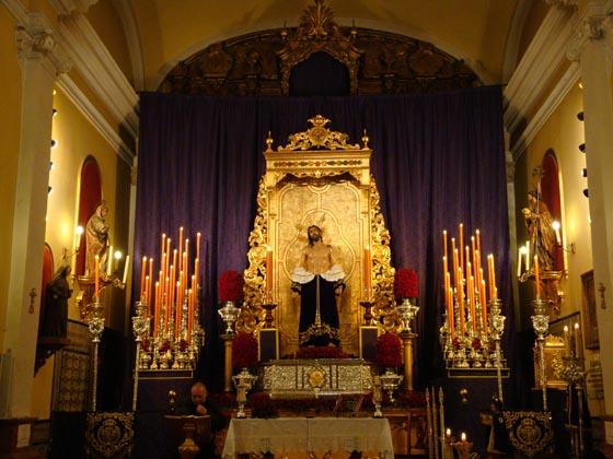 Quinario a Nuestro Padre Jesús Despojado de sus Vestiduras.  Foto: Juan Parejo