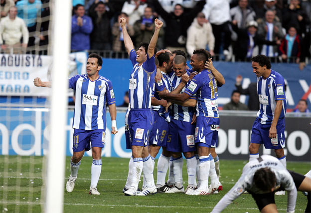 El Málaga es el rey de los derbis andaluces, ya que ha ganado a todos sus rivales del G-5 esta temporada.  Foto: Victoriano Moreno