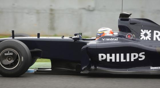 Detalle del lateral del Williams de 2009.  Foto: J. C. Toro