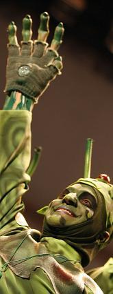 Uno de los extraterrestres de Los que vienen en platillo volante.  Foto: Jose Braza