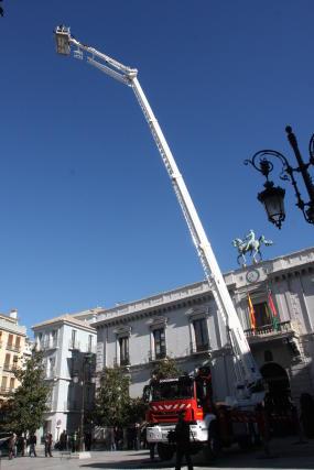 La escala permitiría llegar a prácticamente cualquier edificio de la ciudad.  Foto: Mar?de la Cruz / Esther Falc?