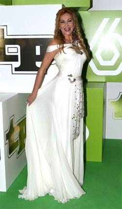 Ana Obregón presentó uno de los premios.   Foto: EFE