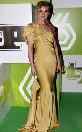 Patricia Conde fue premiada como la mejor presentadora.   Foto: EFE