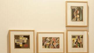 Diferentes cuadros forman una pieza artística.  Foto: Alberto MoralesAlberto Morales