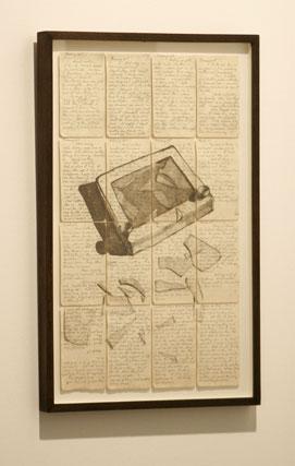 Diferentes manuscritos forman este cuadro singular.  Foto: Alberto Morales
