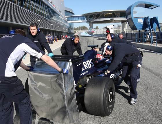 La semana que viene Williams rodará en Montmeló, con la más que probable ausencia de Renault.    Foto: J. C. Toro