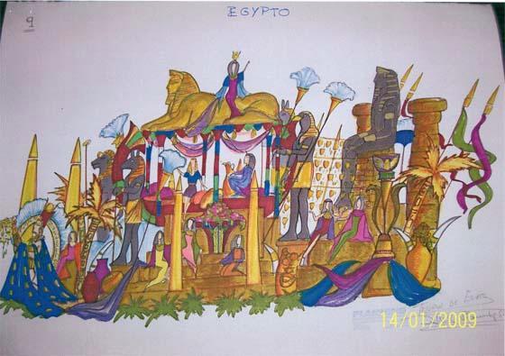 Egypto. Precedida por el pasacalles de los 'Quiconque'.
