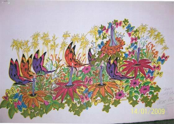 Trono mariposa. Para la Diosa y ninfas adultas 2009.