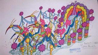 La fantasía. Quinta carroza grande, de gran colorido.