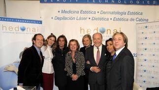 C. Telmo, Sol Bohórquez, P. Ruiz-Mateos, B. Rodríguez, M. Domecq, T. Terry, Macanita y Antonio Gálvez.  Foto: Manuel Aranda