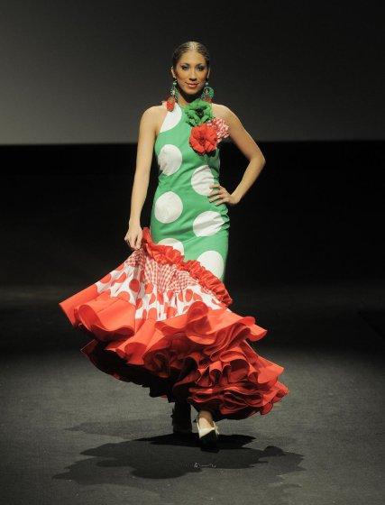 Los colores de Sánchez y la fusión de sus paños estuvieron cargados de originalidad  Foto: Manuel Aranda
