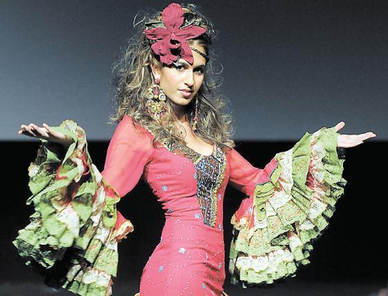 Gaviño llevó el 'Flower Power' a todos sus diseños y abalorios.  Foto: Manuel Aranda