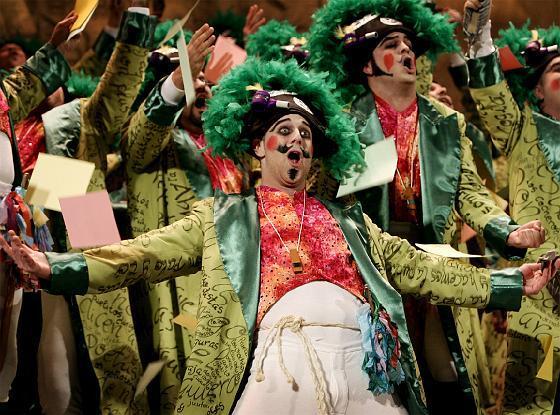 El coro de Pastrana y Zamora recuperó su mejor nivel en semifinales.   Foto: Lourdes de Vicente