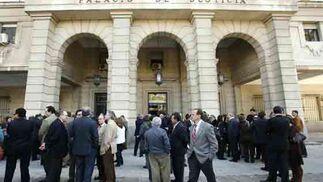 Histórica huelga de jueces en Sevilla