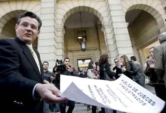 El Tribunal Superior de Justicia de Andalucía (TSJA) ha cifrado el seguimiento del paro de jueces en Sevilla en el 24 por ciento, mientras que el Comité de Huelga lo ha situado en una media del 54,5 por ciento.  Foto: Juarn Carlos Muñoz