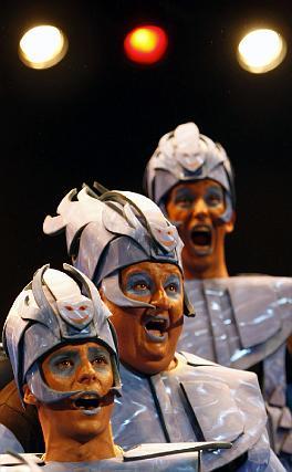 El juego de voces del coro de los niños, un espectáculo.   Foto: Jose Braza