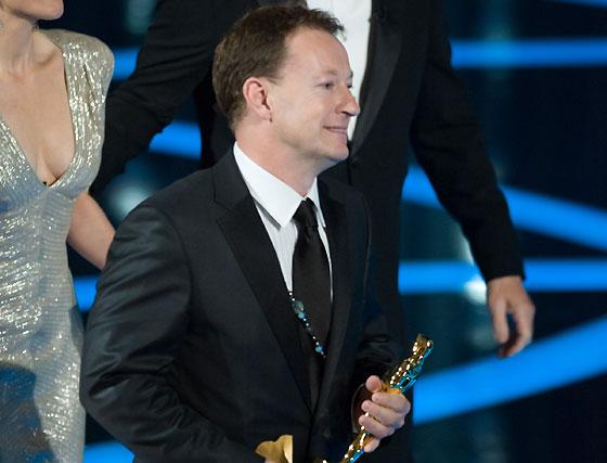 Simon Beaufoy, Oscar al Mejor Guión Adaptado por 'Slumdog Millionaire'.  Foto: Ampas