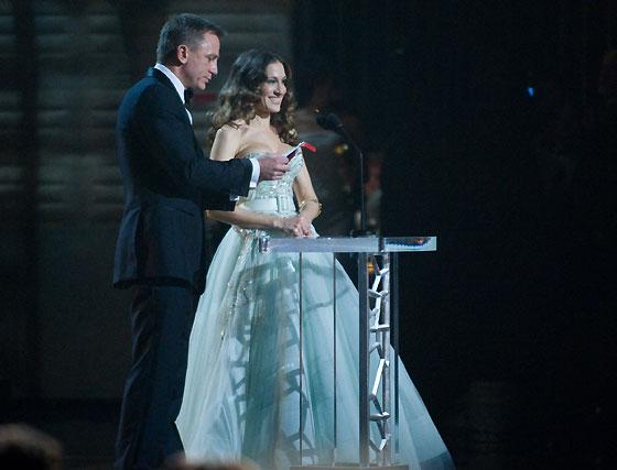 Daniel Craig y Sarah Jessica Parker.  Foto: Ampas