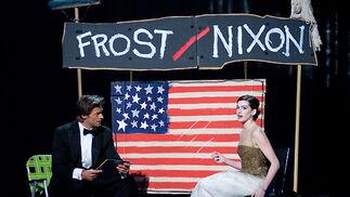 Hugh Jackman y Anne Hathaway.  Foto: Ampas