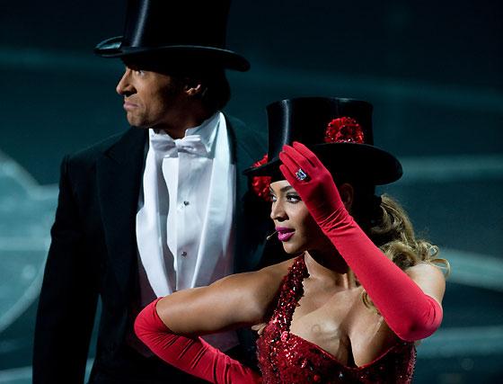Hugh Jackman y Beyoncé.  Foto: Ampas