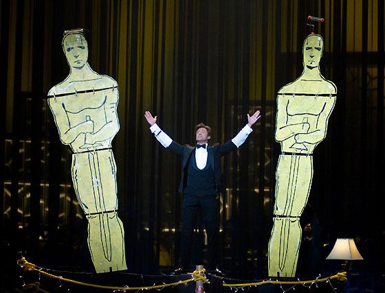 Hugh Jackman, presentador de la ceremonia, al inicio de la gala.  Foto: Ampas