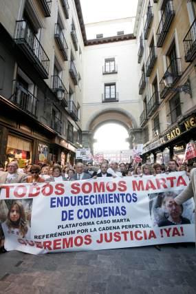 Madrid apoyó a la familia de Marta del Castillo.  Foto: Juan Carlos Vázquez / Alberto Morales