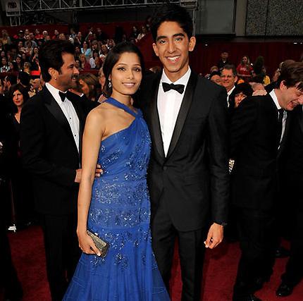 Freida Pinto y Dev Patel, protagonistas de 'Slumdog Millionaire'.  Foto: AFP Photo / EFE / Reuters