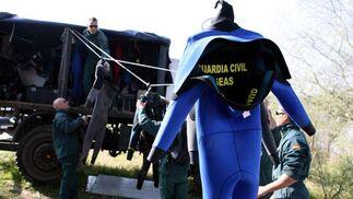 Uno de los trajes del cuerpo de buzos de la Guardia Civil.  Foto: Juan Carlos Muñoz
