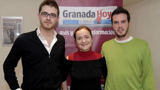 Los oponentes junto a la directora de Granada Hoy, Magdalena Trillo, antes del debate. / Jesús Ochando  Foto: Jes?chando