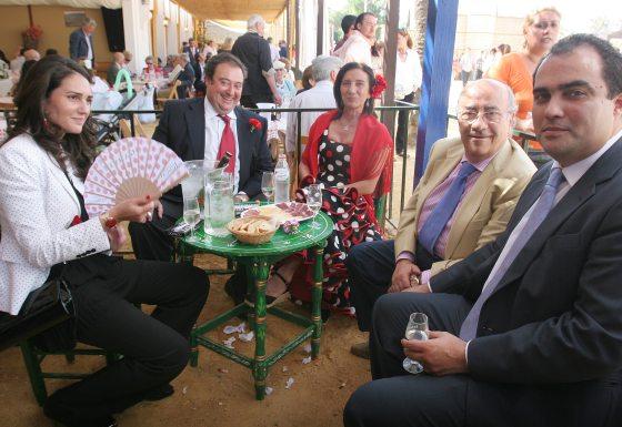 Luis García y Rafael Padilla, consejeros de Diario de Jerez, posan con Javier Moyano y David Fernández  Foto: Vanesa Lobo