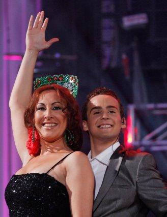 Sandra Cabrera y Miguel Ángel Palma, tras finalizar una canción.  Foto: Victoria Hidalgo