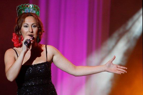 Sandra Cabrera en un momento de la actuación.  Foto: Victoria Hidalgo