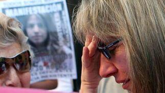 Eva Casanueva en un momento de dolor.  Foto: Juan Carlos Muñoz/ EFE