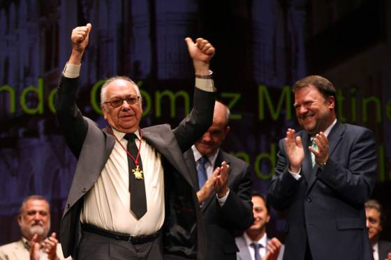 El periodista Fernando Galán, uno de los más emocionados.  Foto: Juan Carlos Muñoz