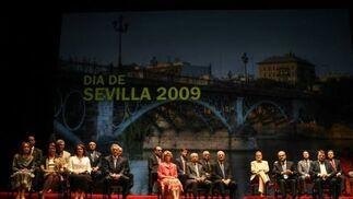 Imagen general del escenario del Lope de Vega, lugar donde se celebró el acto.  Foto: Juan Carlos Muñoz