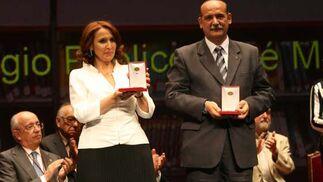 María Moreno y Adolfo Ávila, del Colegio Público José Mª de Campo y del Instituto Murillo, respectivametne.  Foto: Juan Carlos Muñoz