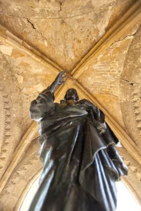 Imagen colocada en el monumento.  Foto: Jaime Martínez