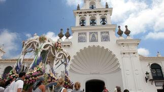 La concha peregrina del santuario fue testigo del adiós de los romeros.     Foto: Reportaje gr?co: Josue Correa