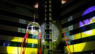 El acto estubo organizado en torno a un impresionante espectáculo de acrobacias aéreas.  Foto: Villoslada