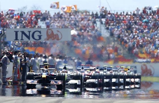 A punto de comenzar la carrera.  Foto: AFP Photo / Reuters / EFE