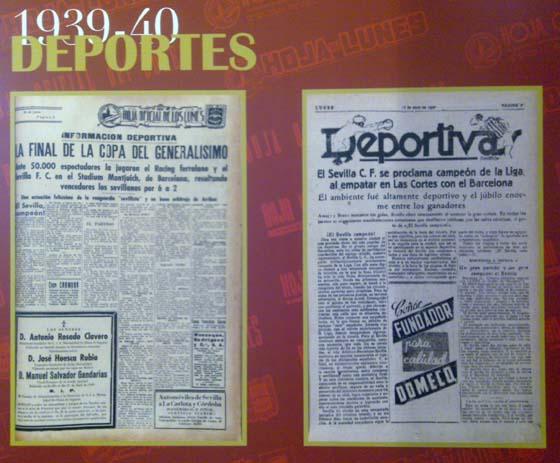 Triunfos en Copa y Liga del Sevilla FC.